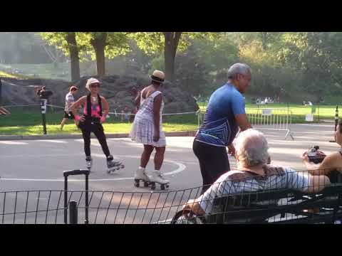 Central Park Roller Skating to House Music pt.1