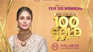 Win up to 10 Kilos of Gold for 100 winners at Malabar Gold & Diamonds- Singapore