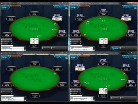 Rush Poker Strategy - 4 Tabling 25NL at Full Tilt Poker