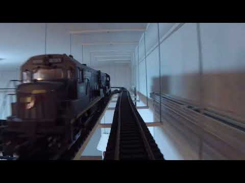 G scale Indoor overhead railway