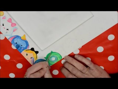 DIY a wooden frame recycled in mirror Tsum Tsum