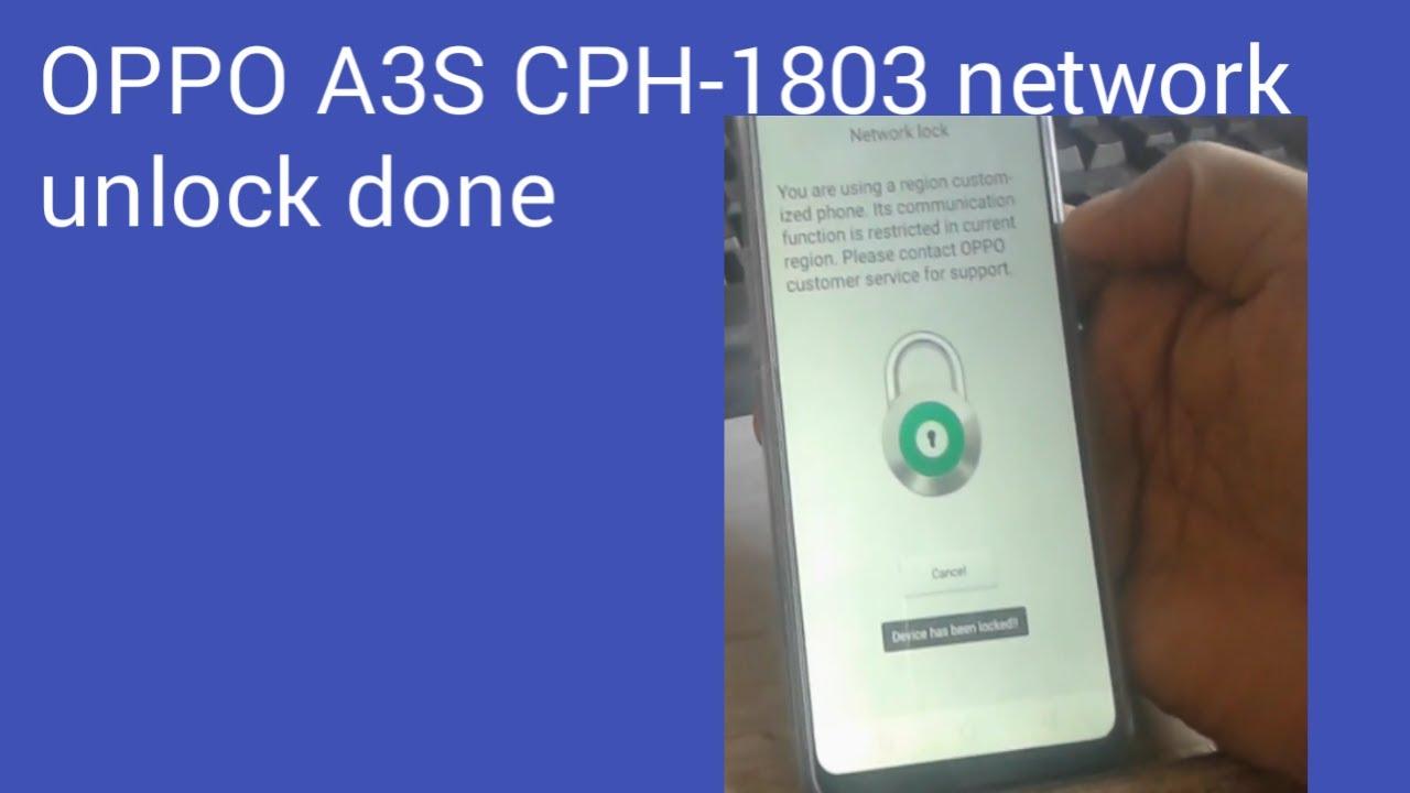HOW TO OPPO A3S CPH 1803 cph 1805 a5 a73 realme 2 NETWORK UNLOCK