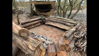Island log camp wİth my hammock