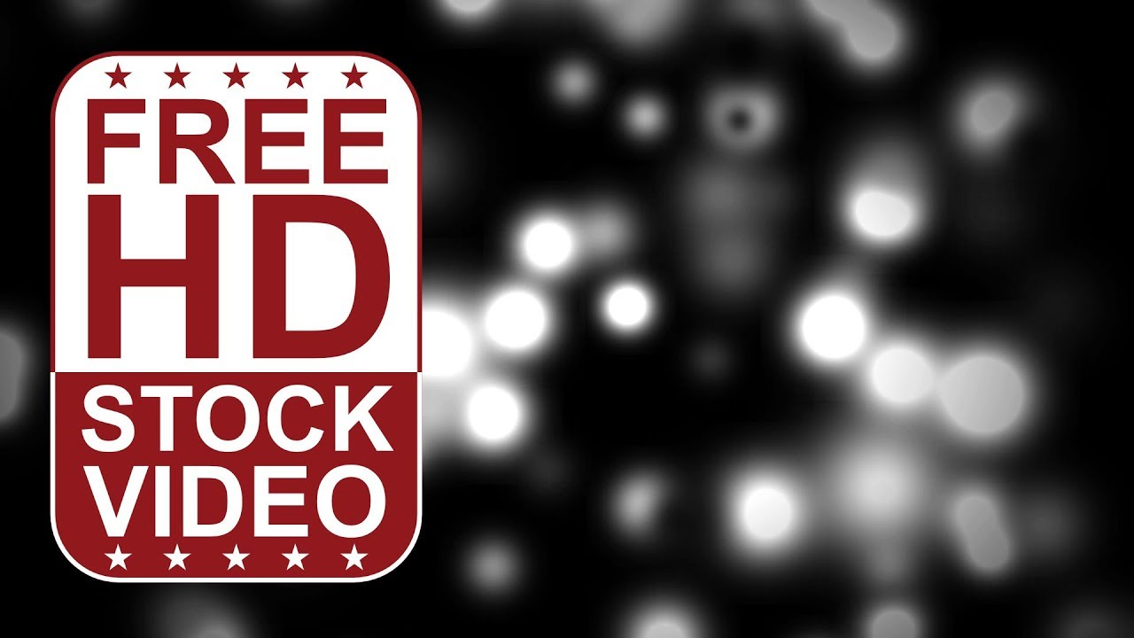 FREE HD video backgrounds – abstract animated white dots moving and merging  slowly in 3D space