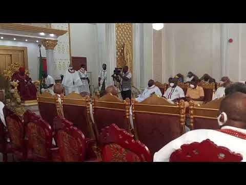 Edo 2020: Oba of Benin Meet Oshiomhole, Ize-Iyamu, Oyegun, Obaseki and Shaibu  Vanguard News