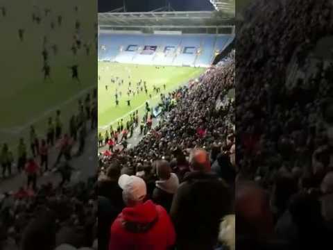Stewards and police using unnecessary force against Coventry fans last night.