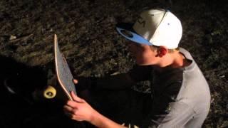 Riley snaps skateboard on 8 foot drop