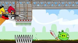 Crush Bad Piggies - 3 ANGRY BIRDS WAITING FOR PIGGIES TO TRAP!