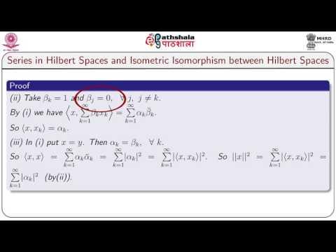Series in hilbert spaces and isometric isomorphism between hilbert spaces.(MATH)