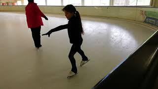 Eiskunstlauf. Lernen. Salchow.
