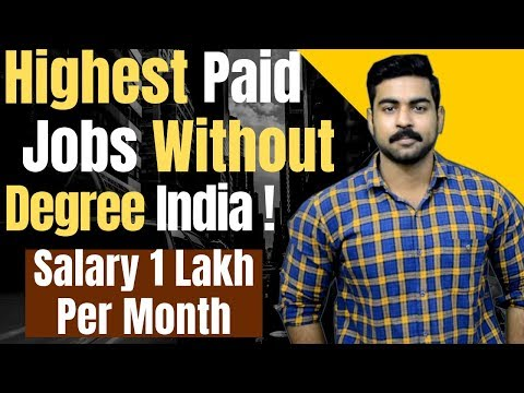 Earn 1 Lakh Per Month | Highest Paid Jobs Without Degree's | Anyone can do this!