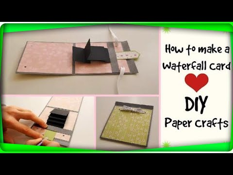How to make a waterfall card | DIY Crafts | Scrapbooking Tutorial | Birthday Handmade Gift Ideas