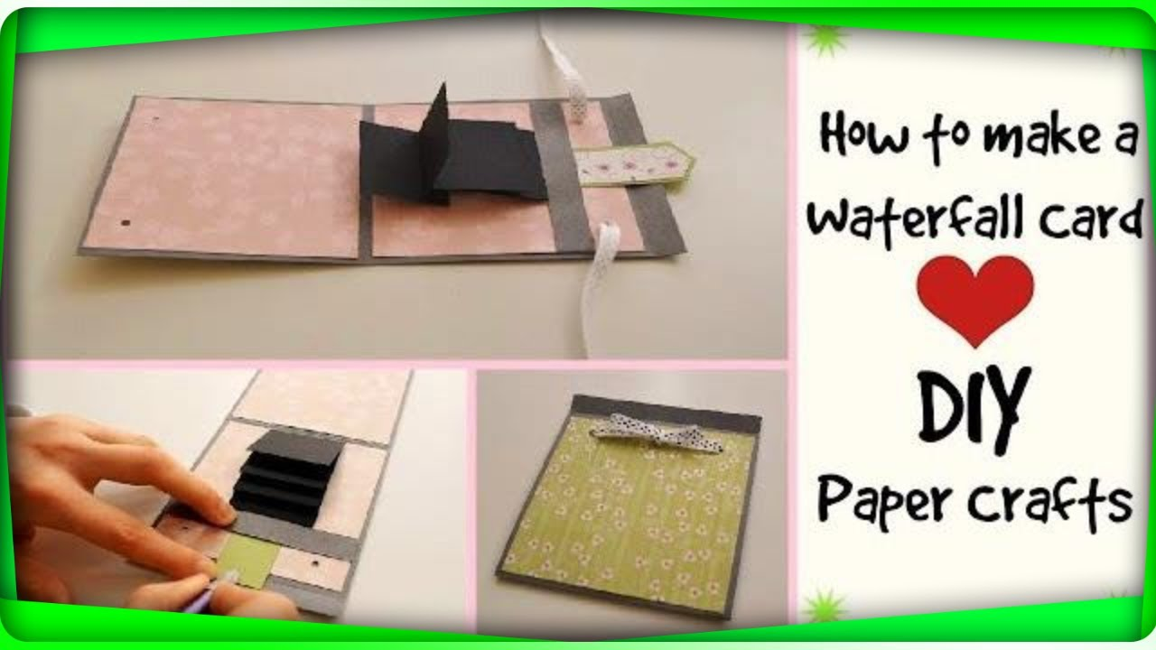 How to make a waterfall card diy crafts scrapbooking for How to make craft
