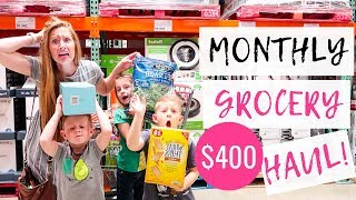 May 2019 Monthly Grocery Haul on a Budget | Target & Costco Grocery Haul