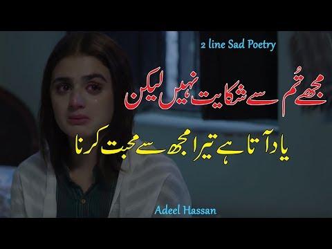 Sad Love Poetry  2 Line Heart Touching Poetry  Broken Heart Sad Shayri  Hindi Shayri 
