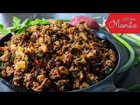 CARNE MOLIDA CON PAPAS | Como Quitarle La Chuquilla | Cocina Mamita