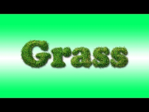 How To Create Grass Text In Photoshop | Photoshop Text Effects | Photoshop Tutorials By Leena Jain