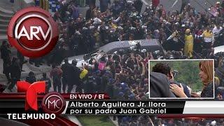 Hijo de Juan Gabriel llora al ver funeral de su padre | Al Rojo Vivo | Telemundo