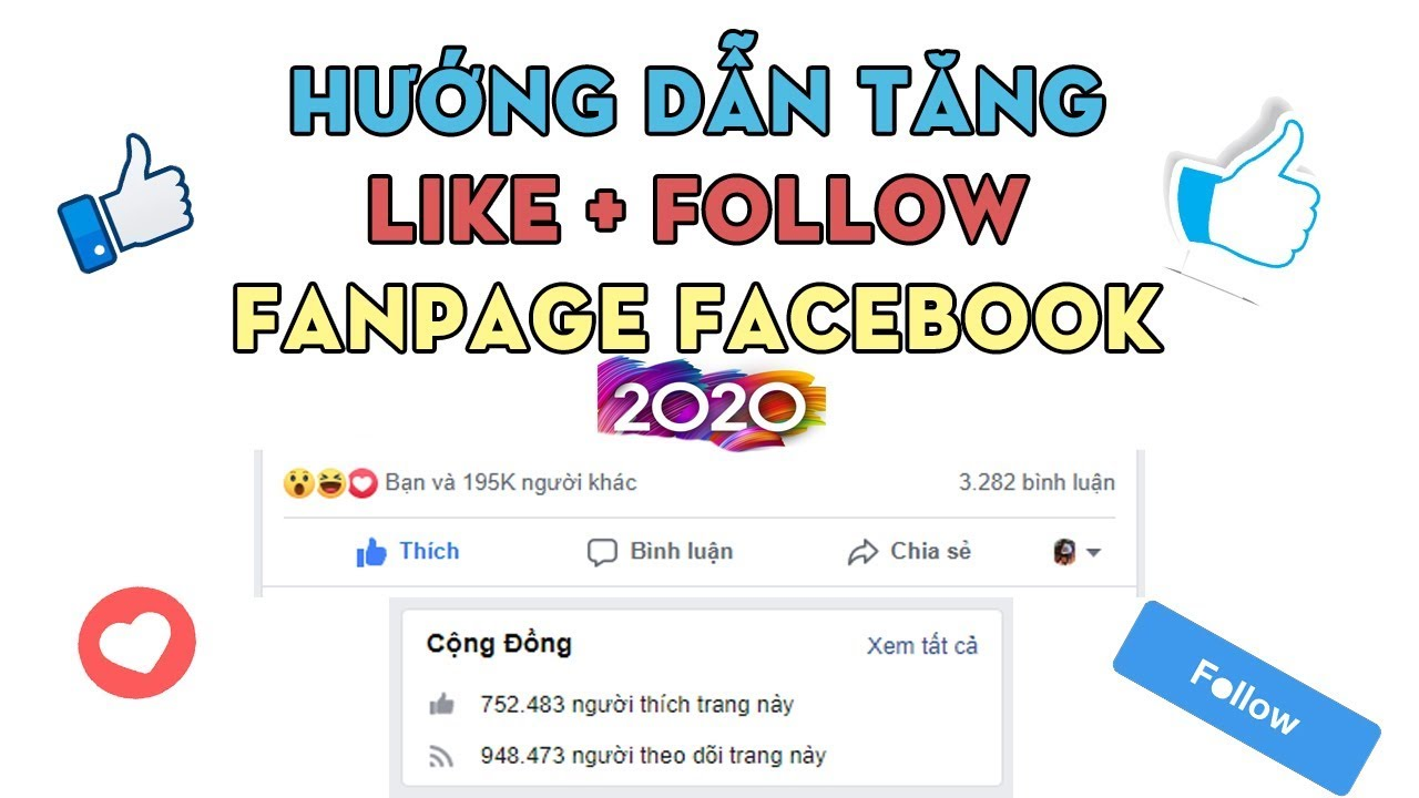 HƯỚNG DẪN TĂNG LIKE + FOLLOW FANPAGE FACEBOOK 2020 || HOW TO INCRESE LIKE + FOLLOW FANPAGE FACEBOOK