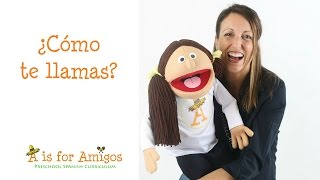 ¿Cómo te llamas? Spanish lesson for children