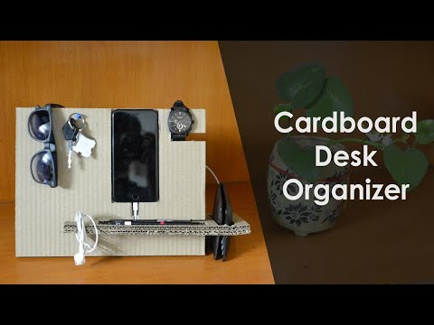 DIY: How to make a DESK ORGANIZER with cardboard | Super useful | Step by step guide