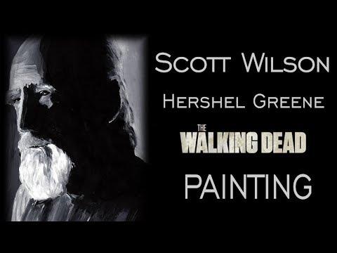 Scott Wilson  Hershel Greene  The Walking Dead  Acrylic Painting