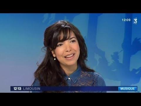 La chanteuse Indila invit�e du journal de France 3 Limousin