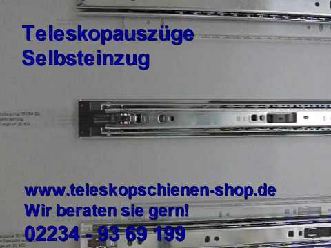 Extrem Teleskopschiene mit Selbsteinzug bei teleskopschienen-shop.de DA33