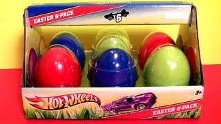Hot Wheels Easter Egg Cars Surprise Diecasts Holiday Edition 6-Pack car-toys