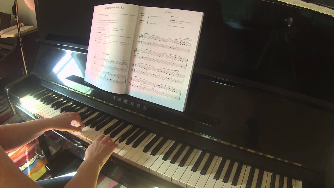 gavotte adapted from hook the classic piano course book 1 by carol