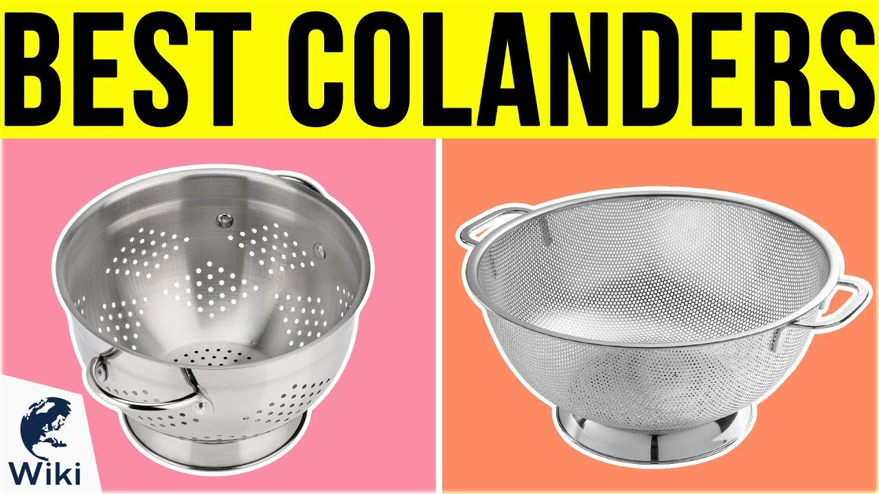 Best POP Food Strainers Collapsible Silicone Hand Held Strainer 8 Inch Diameter