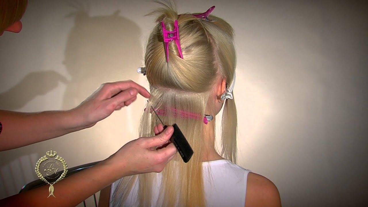 Наращивание волос косичным методом