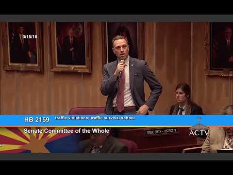 Arizona State Senate Debates Texting & Driving Ban (3/15/18)