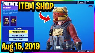 FORTNITE ITEM SHOP *NEW* GUTBOMB, HOTHOUSE SKINS & BANNER SHIELD! | ITEM SHOP (Aug 15, 2019)