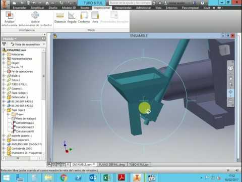 Diseño inventor Gusano elevador de particulas - Fabricacion