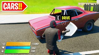 CARS in Fortnite! 🚗 (New Gameplay Update) 🔴LIVE🔴