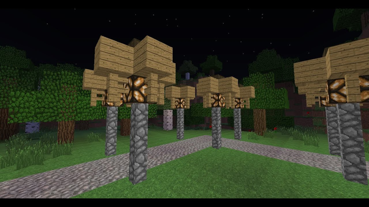 minecraft tuto comment faire un lampadaire automatique youtube - Lampadaire Minecraft