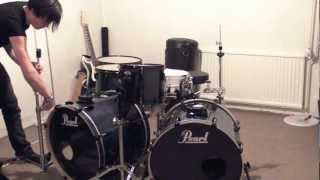 Drum setup (Pearl Vision VBX Limited edition birch)