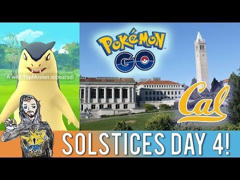POKEMON GO SOLSTICES EVENT DAY 4! Destination Pokemon GO at UC Berkeley Campus! Wild Typhlosion!