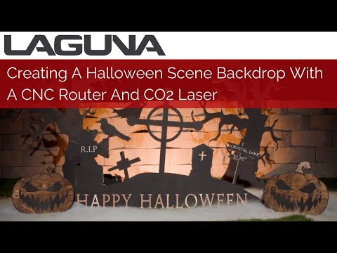 Creating A Halloween Scene Backdrop | CNC Router And CO2 Laser