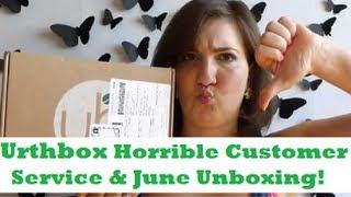 Urthbox Snackbox - HORRIBLE Customer Service Story & June Unboxing! Thumbnail