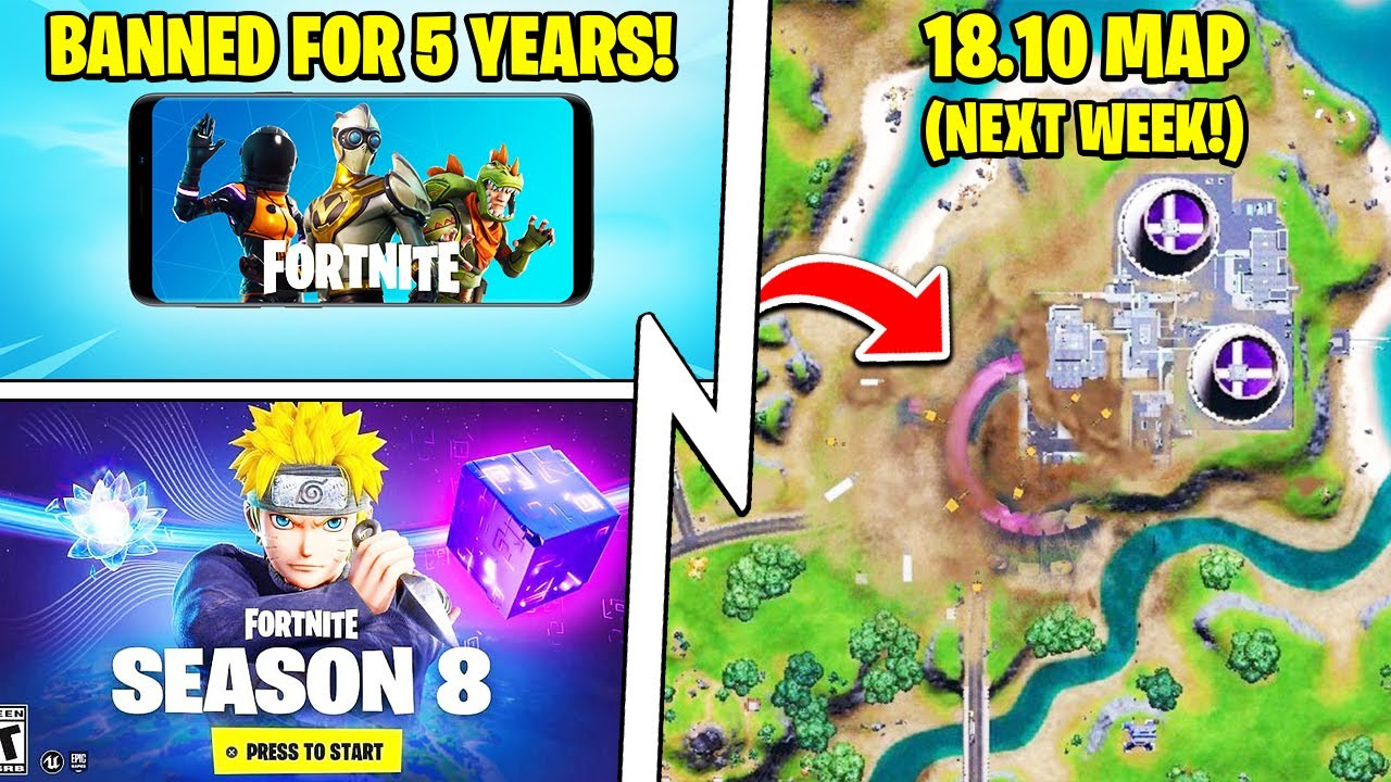 The Naruto Update has a BIG Map Change, Fortnite Mobile BANNED!