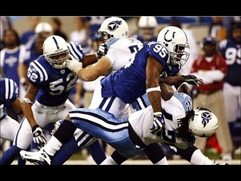Darrell Reid Huge Hit on Chris Henry || Colts vs. Titans 2007