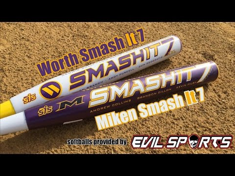 Miken and Worth Smash It 7's!  Two bats!  One video!