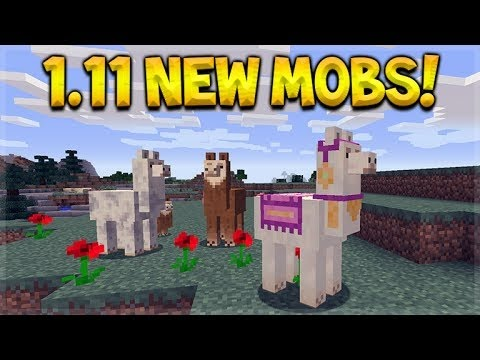 Minecraft 1.11 - ALL NEW MOBS, Gameplay Minecon 2016 PC ...