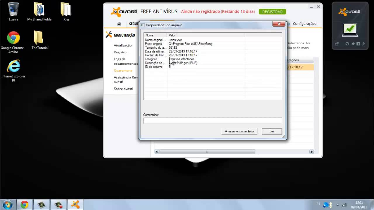 remover avast do pc