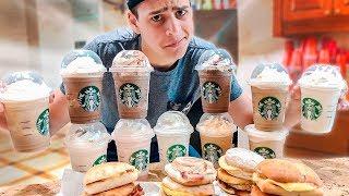 TODOS OS LANCHES DE CAFÉ DA MANHÃ DO STARBUCKS !! ‹ JonVlogs ›