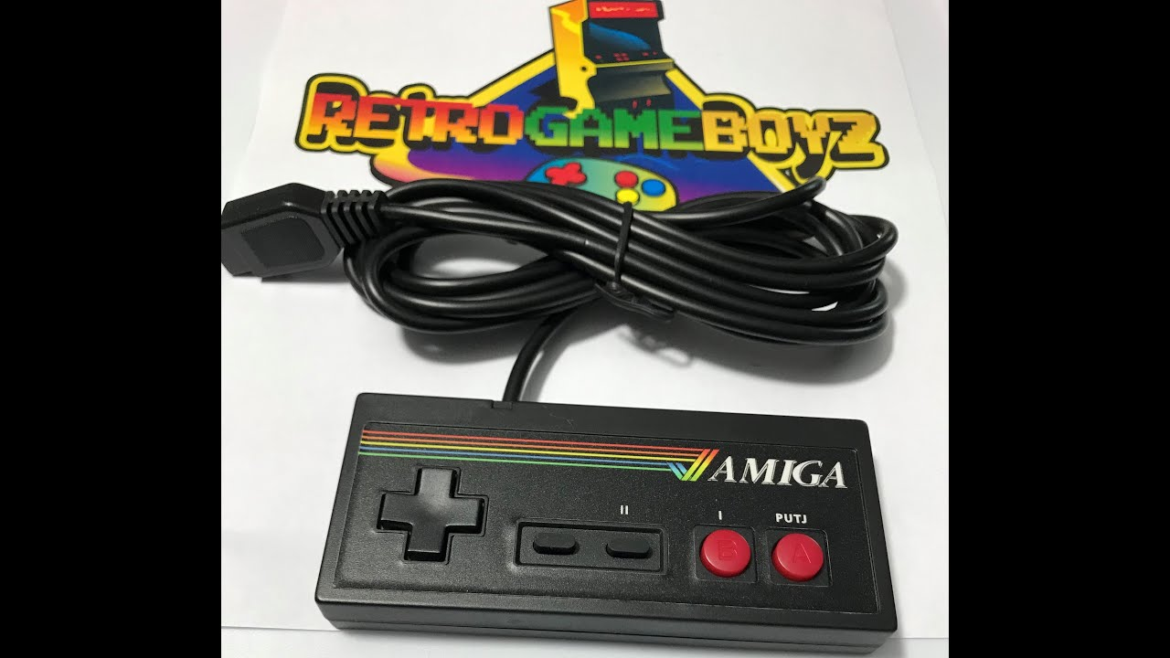 Amiga Controller Gamepad Commodore 64 Control Pad Power Stick 3 button