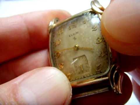 Elgin 554 USA manual wind vintage watch