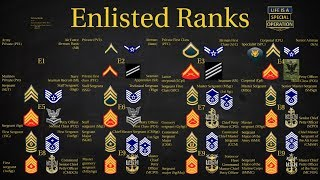 US Military (All Branches) Enlisted Ranks Explained – What is a Chief? Sergeant? Private?